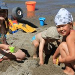 Shadybrook kids playing in sand